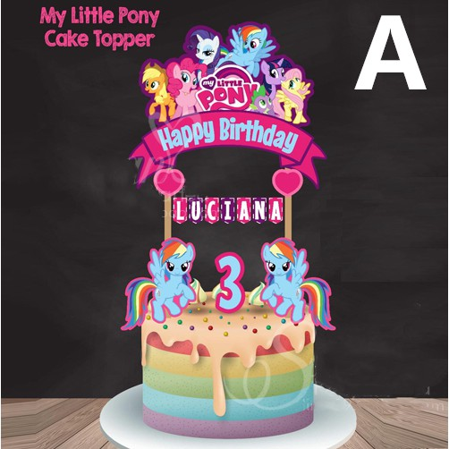 My Little Pony Cake Topper Birthday Party