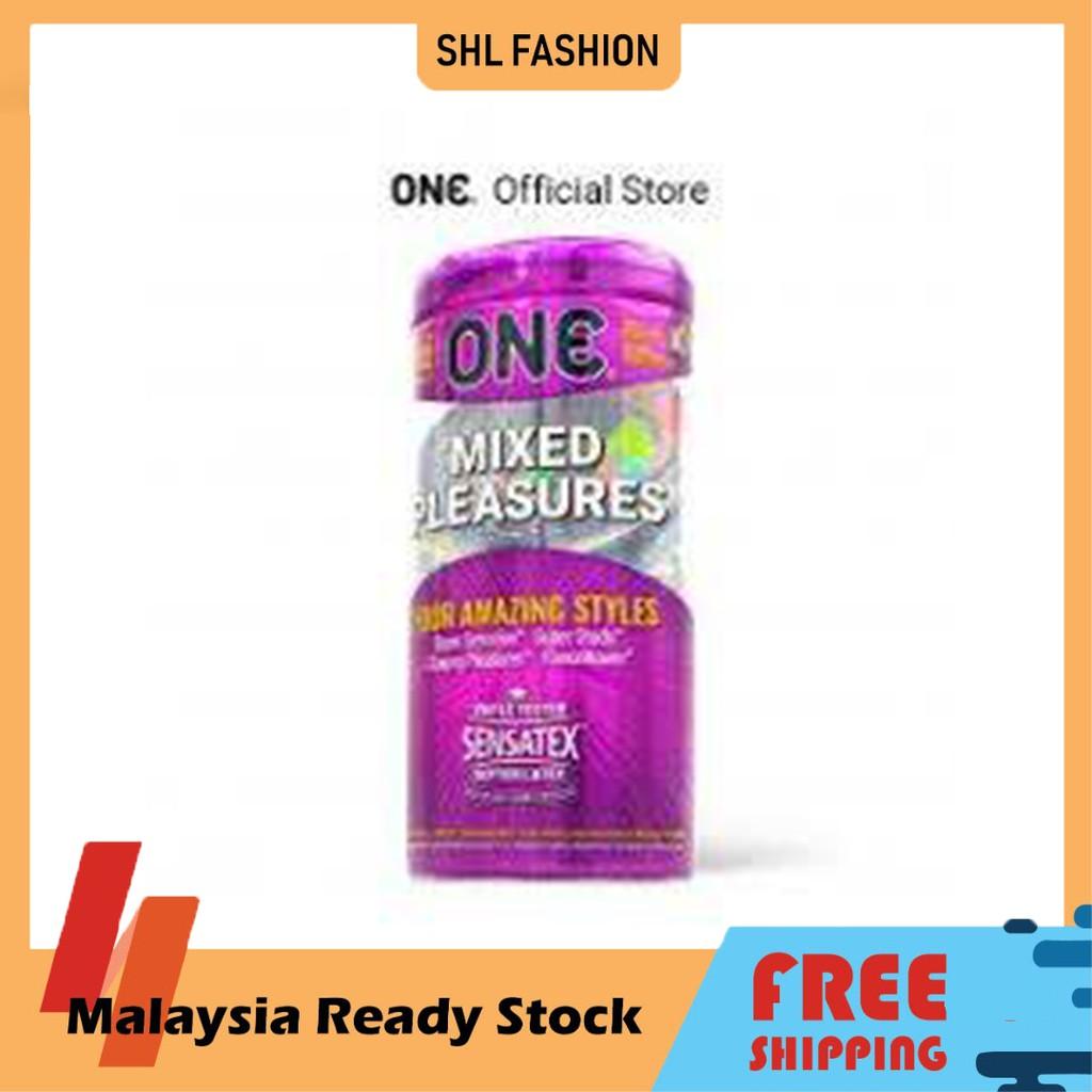 ONE Condoms Mixed Pleasures 12pcs Kondom SHL Ready Stock 安全套 避孕套