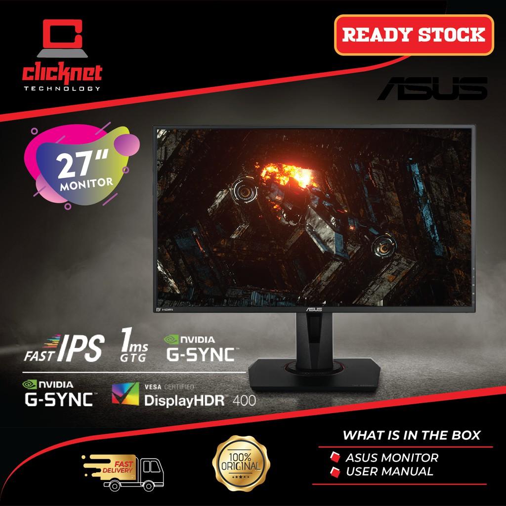 Asus 27 Inch Monitor Vg279qm Tuf Gaming Hdr Fullhd 280hz Black 1920 X 1080 Ips Gtg Sync G Sync Shopee Malaysia