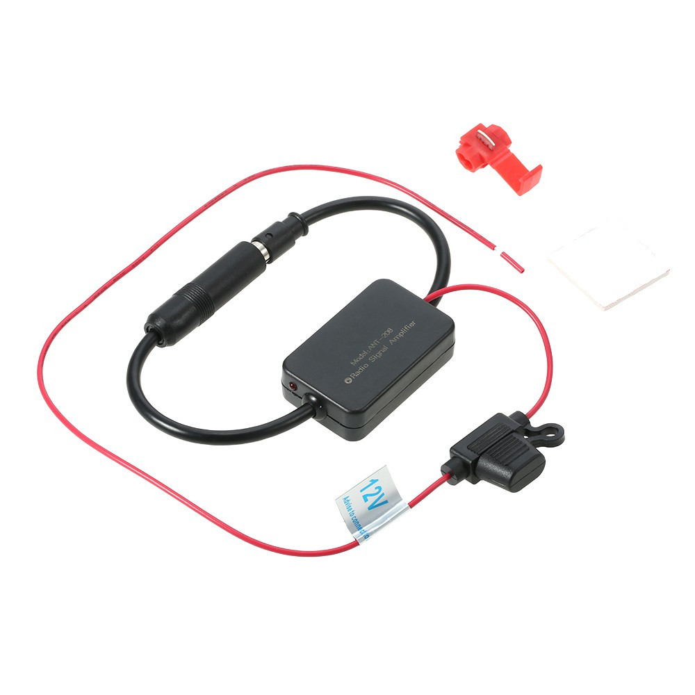 New 12V ANT-208 Car Automobile FM Antenna Radio Signal Booster Amplifier Amp YG