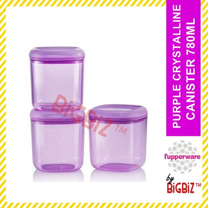 TUPPERWARE Purple Crystalline Canister 780ml Bekas Kuih Raya [READY STOCK]