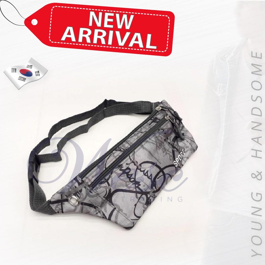 Korean Sport Fashion Waist/Chest Pouch (Grey)