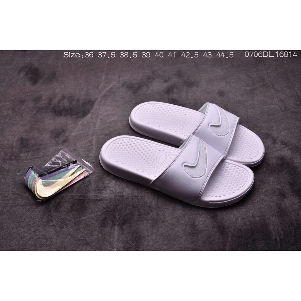 0377f3f7 ❤ stock in stock ❤ Nike BENASSI JDI LTD white Casual slippers ...