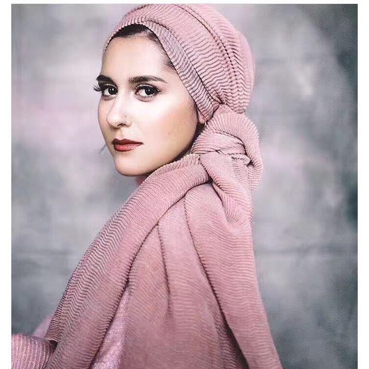 Pink women scarf large neck  fashion cotton lady ligh fabric shawl winter wrap