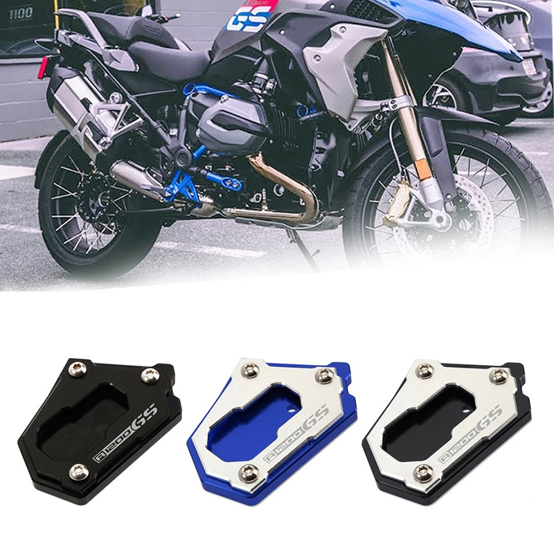 New CNC Motorcycle Side Stand Enlarge Foot Pad Kickstand Extension Plate Pad For BMWR 1250 GS 2019 R1200GS LC 2013-2019 Not For ADV