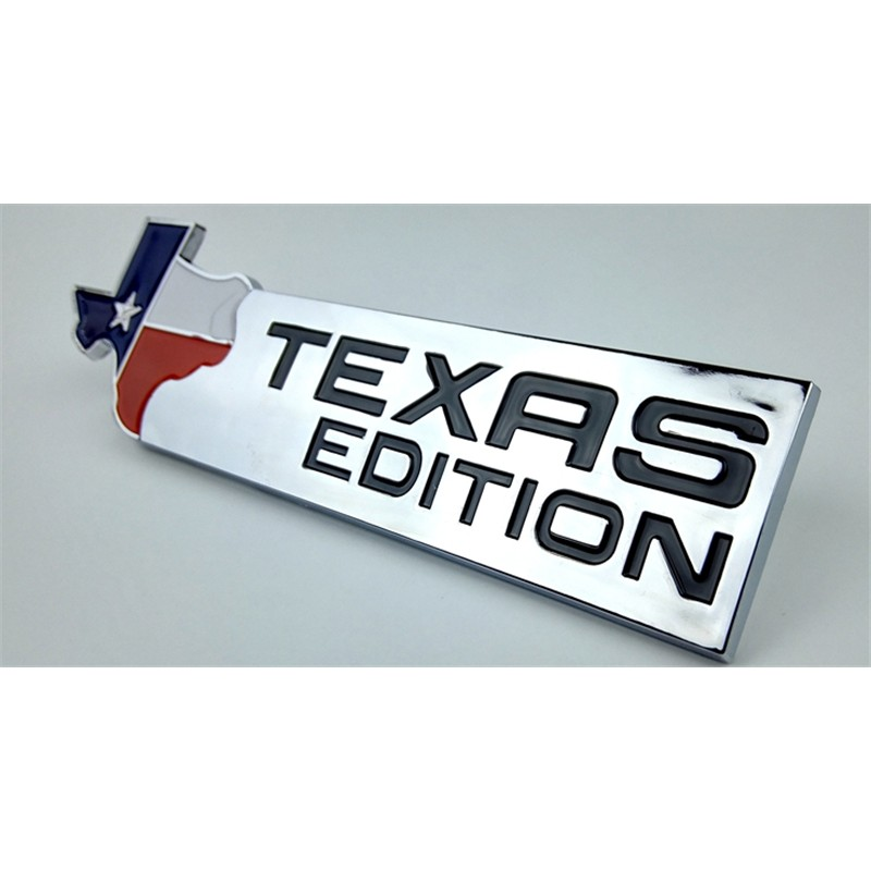 TEXAS EDITION Trunk Auto Emblem Side Tail Wing Badge Car Sticker 3D Chrome