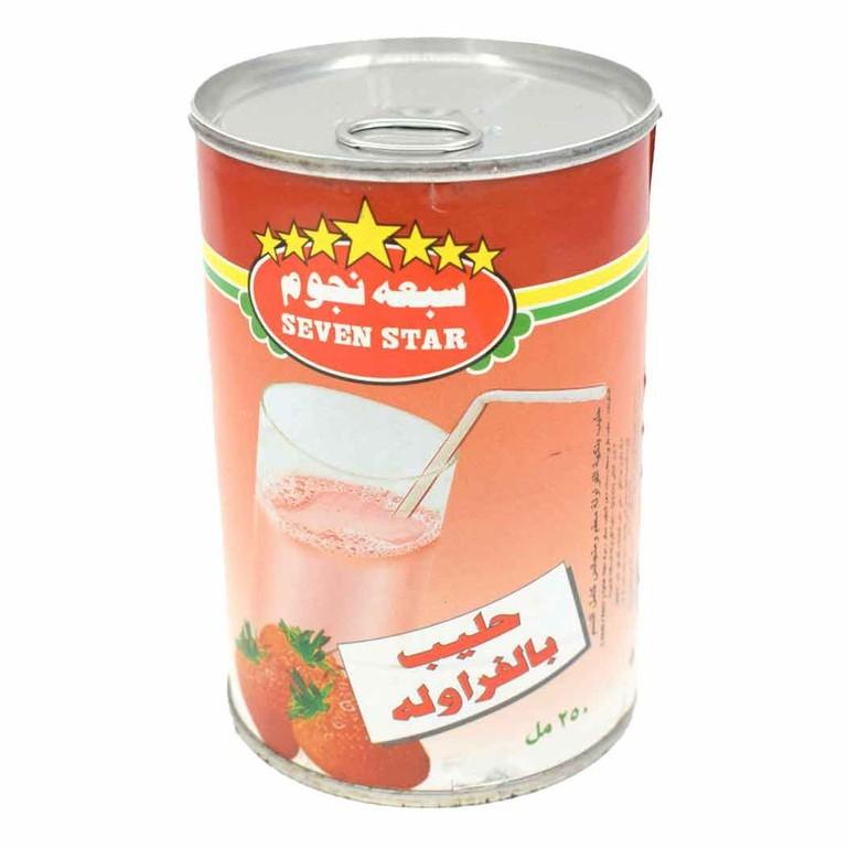 Seven Star Strawberry  Milk 250ml , Susu Strawberry Tujuh Bintang 250ml, سبعة نجوم حليب بالفراولة 250 ملي