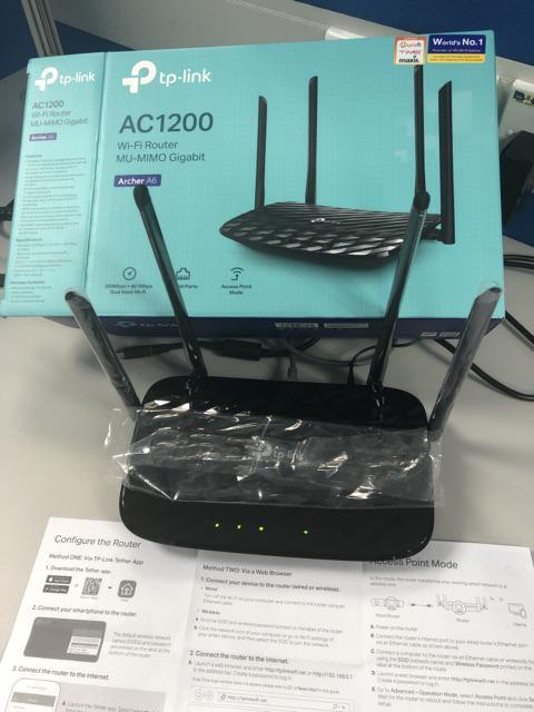 TP-LINK Archer A6 MU-MIMO Wave2 Gigabit AC1200 Wireless WiFi Router