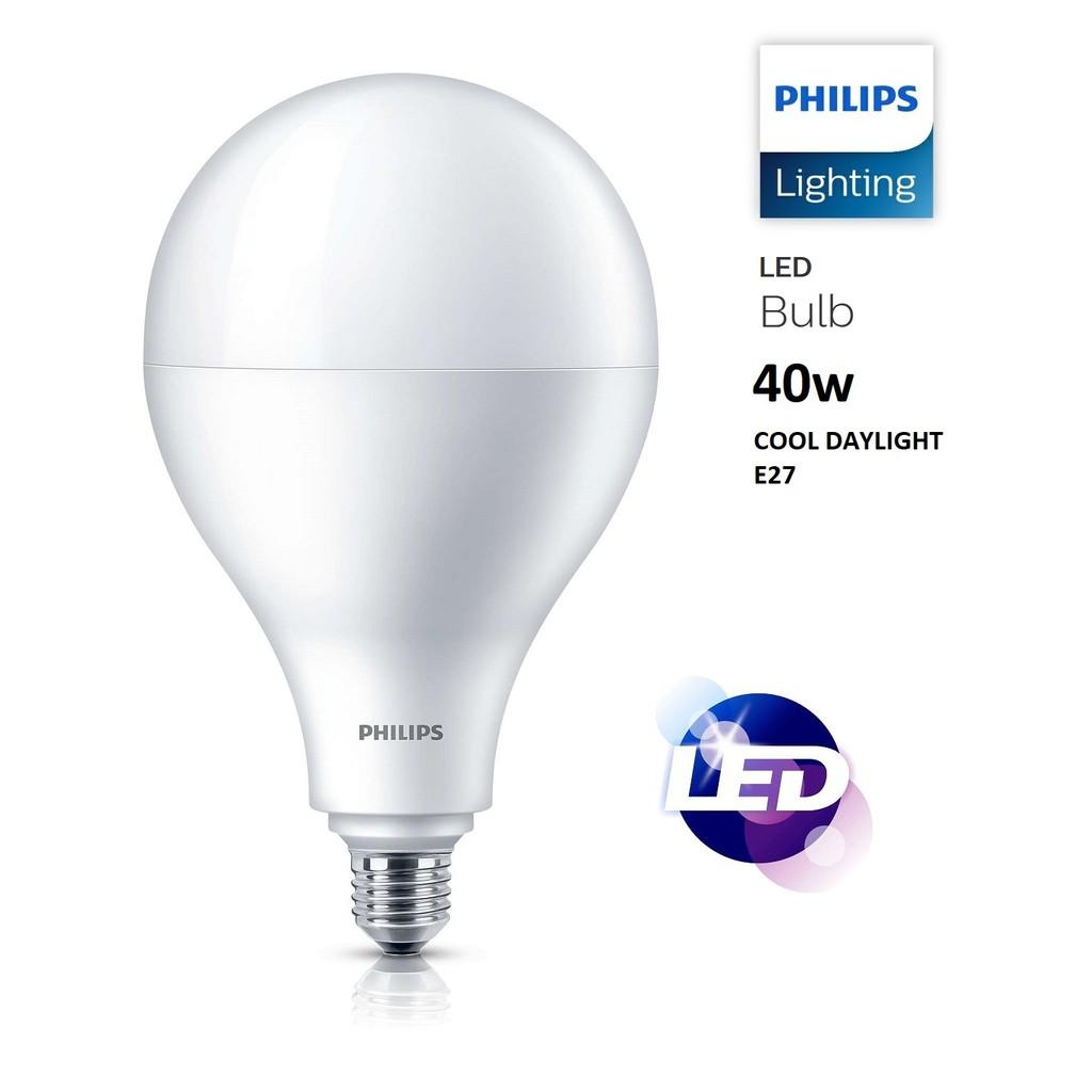 PHILIPS 40w High Lumen LED Bulb E27 Cool Daylight / MENTOL LED | Shopee Malaysia