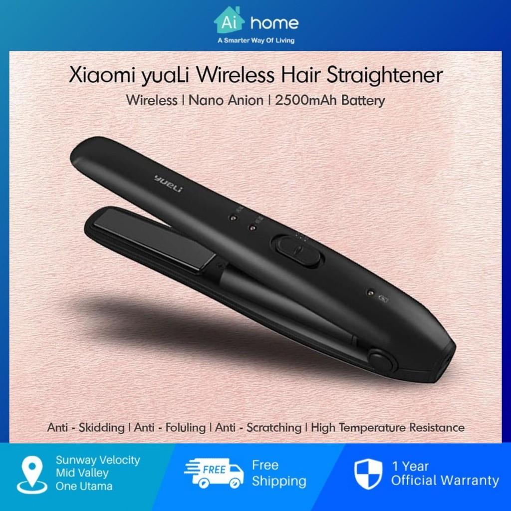 YUELI Mini Wireless Portable Straightener - 2500mAh   Great Handling   High Temperature Resistant   LED Indicator Aihome