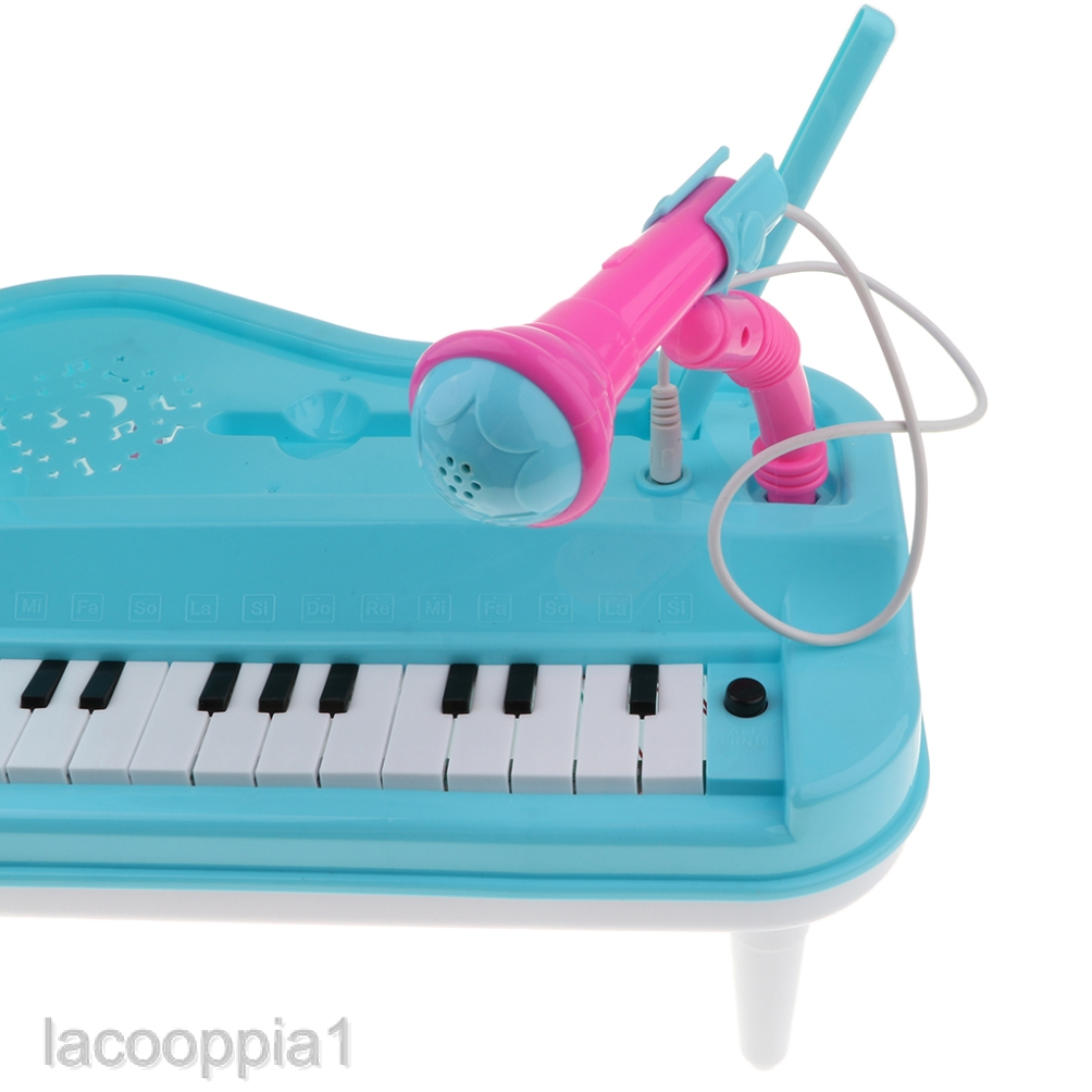 Kids Piano Toy 23Keys Electronic Keyboard with Microphone Musical Instrument