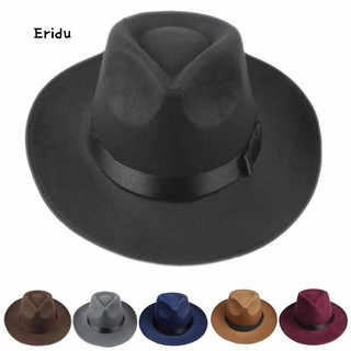 aba6cbc8f Sun Visor Men Women Hard Felt Wide Brim Fedora Panama Hat Autumn ...