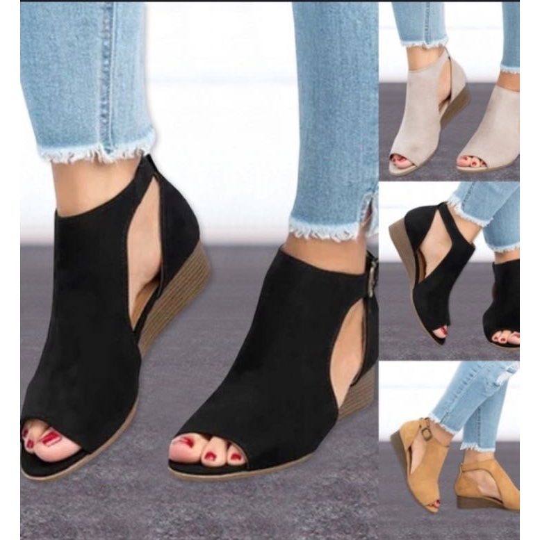Women Roman Sandals Leather Peep Toe Block Heel Sandals Ankle Buckle Shoes Casual Outdoor Beach Shoes for Women /& Girls