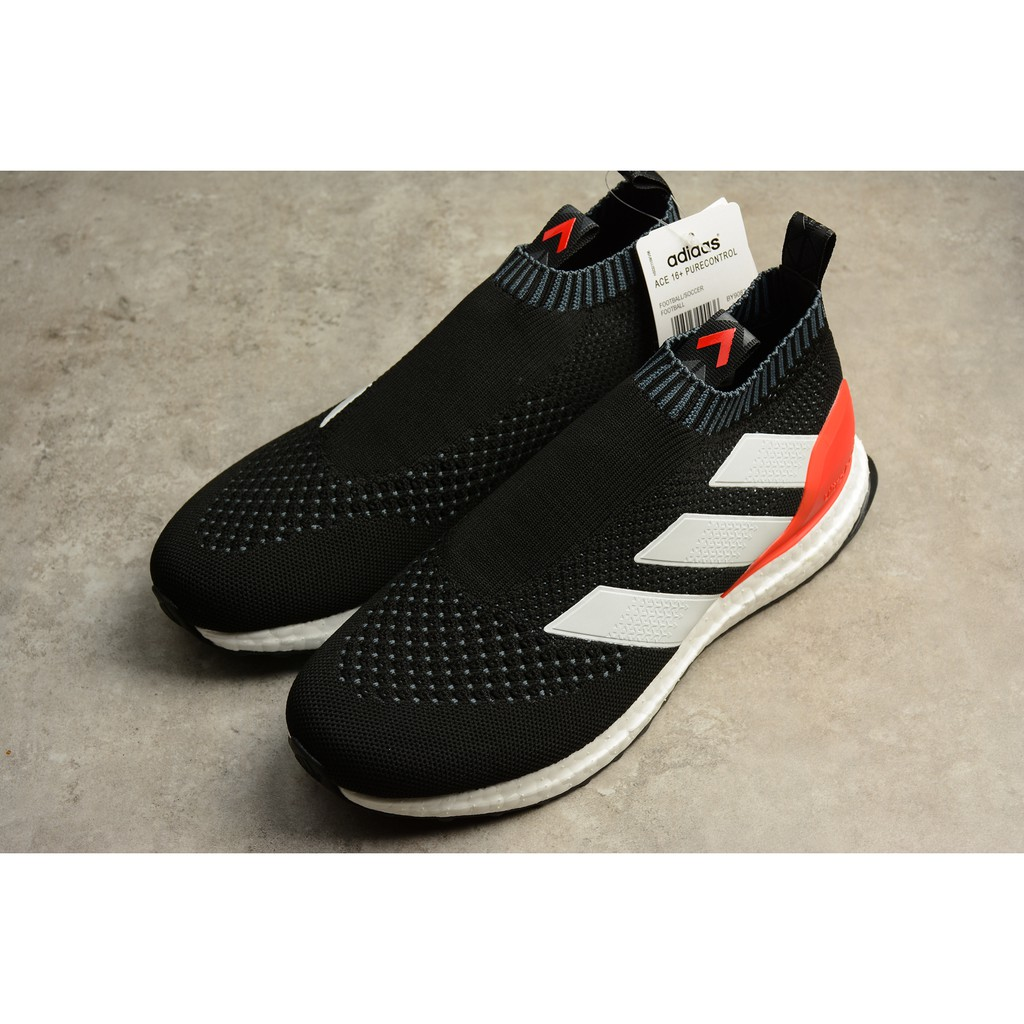 b85c14185a10b Adidas Ace 16 + Pure Control Ultra Boost Ub Black And White Red By 9087