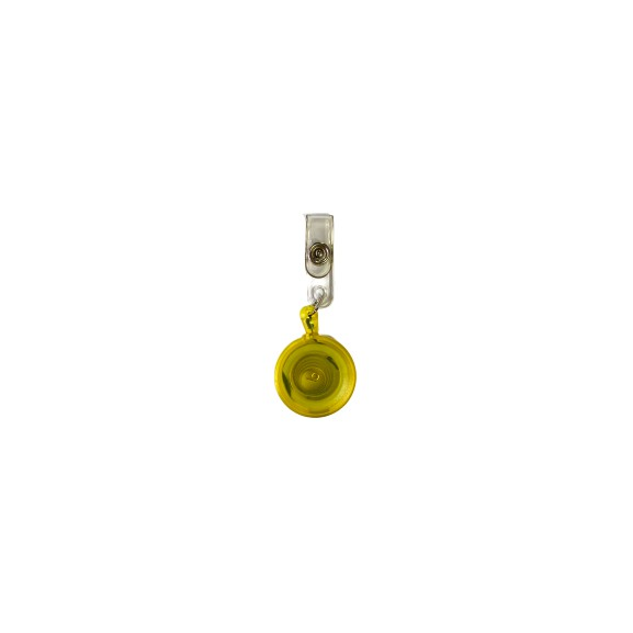 Round Shape Yoyo Pulley For ID Tag Holder (Yellow)