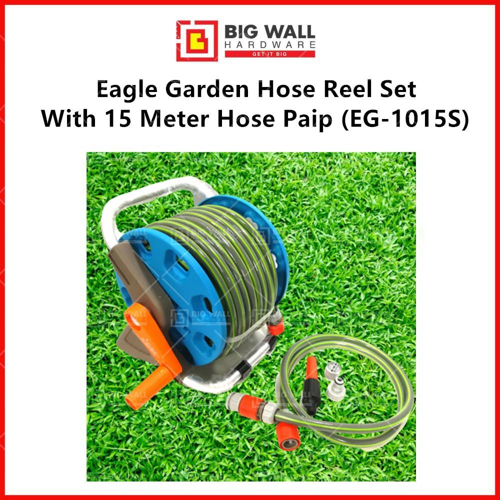 Eagle Garden Hose Reel Set  With 15 Meter Hose Paip (EG-1015S) Big Wall Hardware