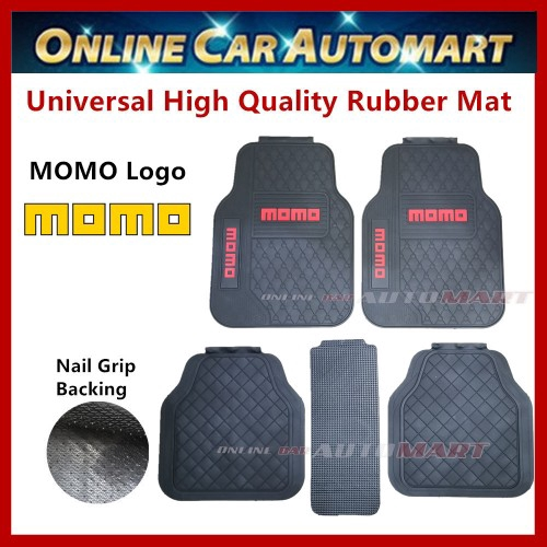Universal High Quality Rubber Spike Nail Backing With MOMO Logo Car FloorMat