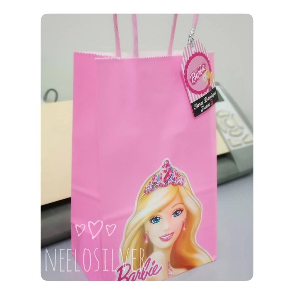 Barbie Theme Paperbag X 10 Pcs Shopee Malaysia