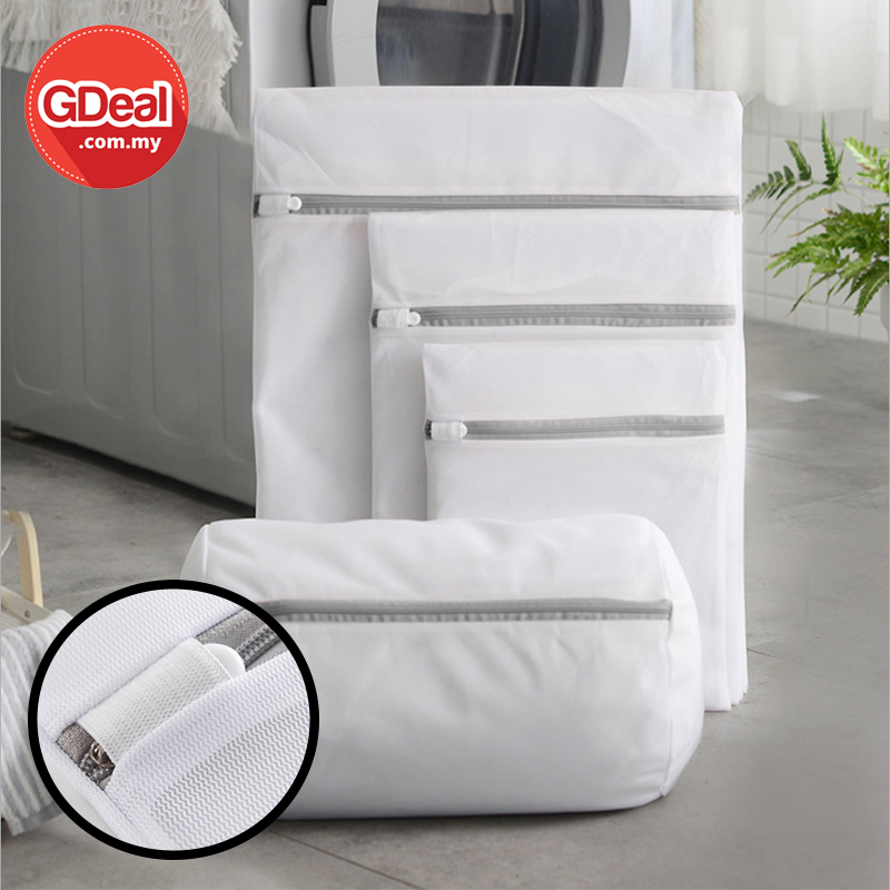 GDeal 4 In 1 Fine Mesh Laundry Protection Bag Set Net Wash Pouch Bag For Underwear Clothes Beg Dobi
