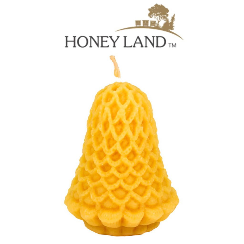 Honey Land™ Beewax Candle – Bell with Lace (130g) /lilin wax lebah Eco-friendly Gift Home Decor Lilin Hiasan [GIFT IDEA]