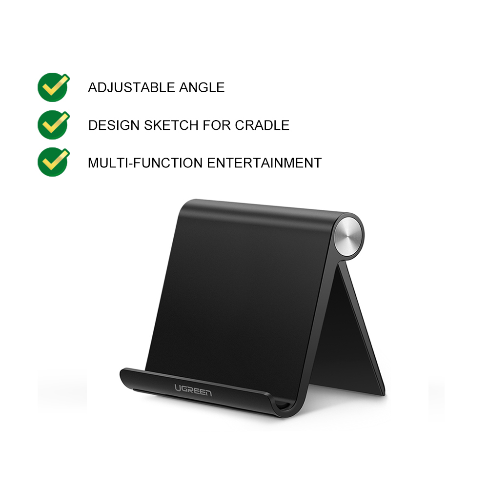 UGREEN Multi-Angle Universal Mini Foldable Desk Phone Stand Holder Cell Phone Dock Stand iPad Tablet Smartphone Mobile