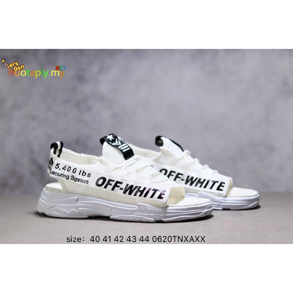 Adidas Shoes Off white co branded summer men's sandals 40 44
