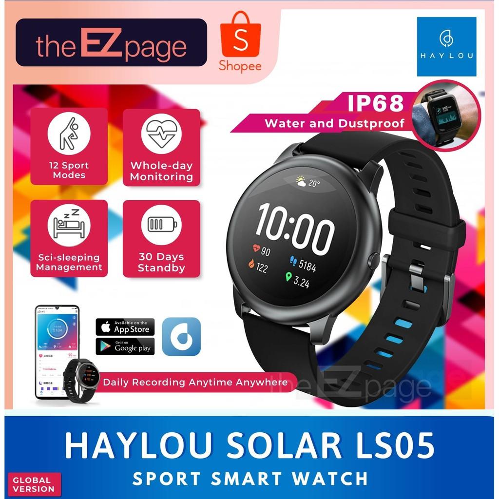 Global Version Xiaomi Haylou Solar Ls05 Smart Watch 12 Sports Modes Shopee Malaysia