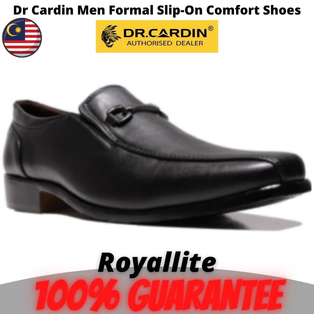Dr Cardin Men Formal Slip-On Micro Suede Comfort Shoes (6302A) Black