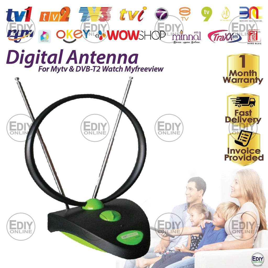 Greentek UVR-AV208 Uhf Vhf Indoor Tv Antenna for Hdtv Dttv Myfreeview  Antena Mytv DVBT2 _0101011