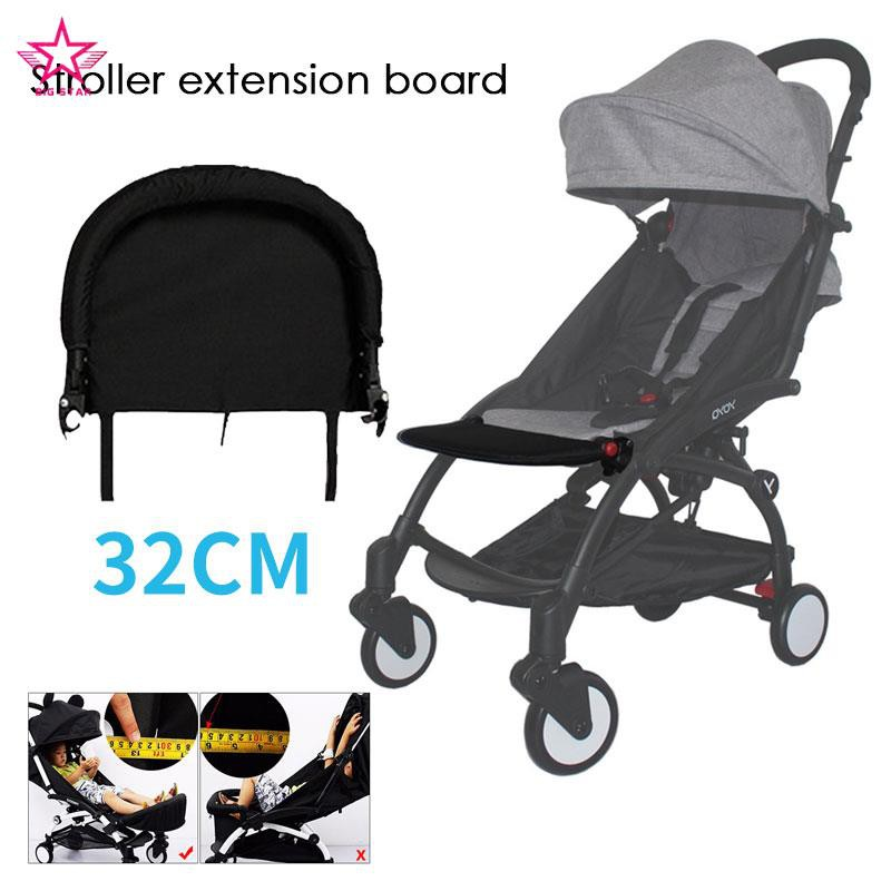Strollers Accessories Activity & Gear Generic Baby Stroller Footrest 32cm Bumper Toddler Baby Stroller Booster Feet Infant Baby Stroller Foot Dragging