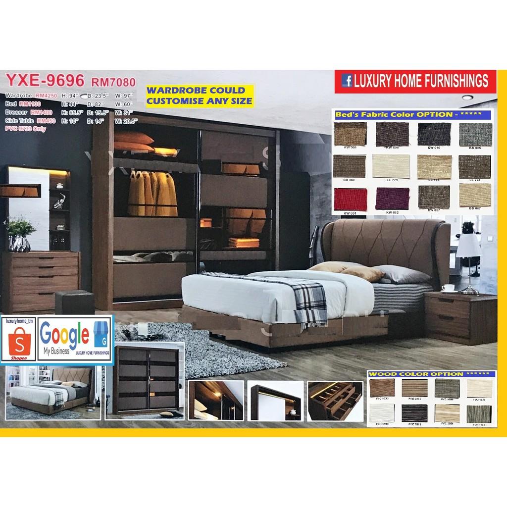 BED ROOM SET, 8'X8' FULL SET WITH LIGHTING EFFECT, LATEST DESIGN, SUPER SAVER SALE