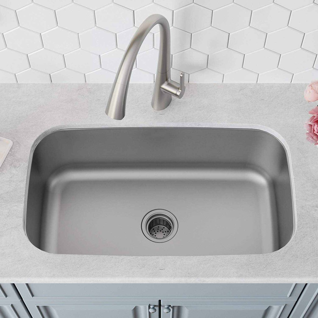 Kitchen Undermount Sink Single Bowl Extra Deep Basin 228mm With Fast Drain Opening Shopee Malaysia