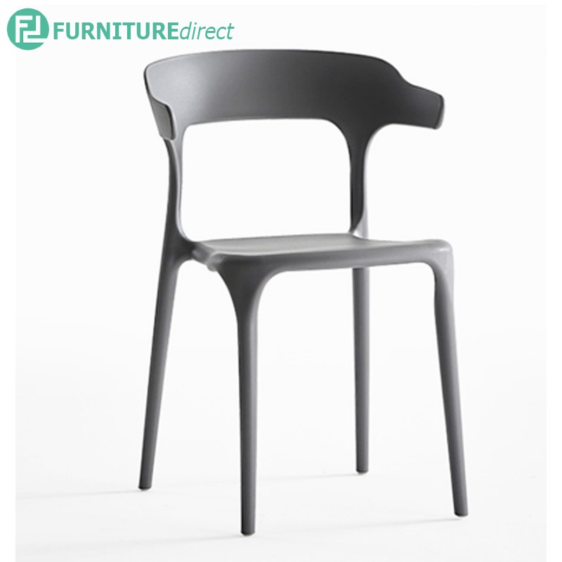 Furniture Direct BULL designer PP plastic eames chair with ergonomic arm rest-3 colors