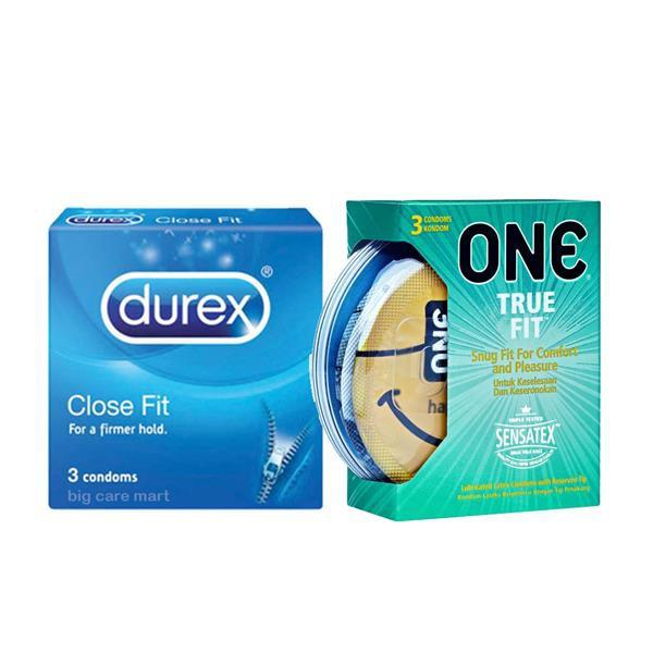Durex Close Fit Condoms 3s + One True Fit Condoms 3s