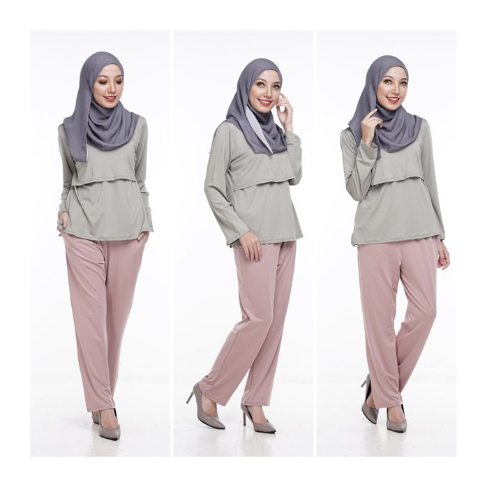 Seluar Kasual Khaki Ibu Mengandung by Qissara Maternity Friendly Casual Khaki Pants