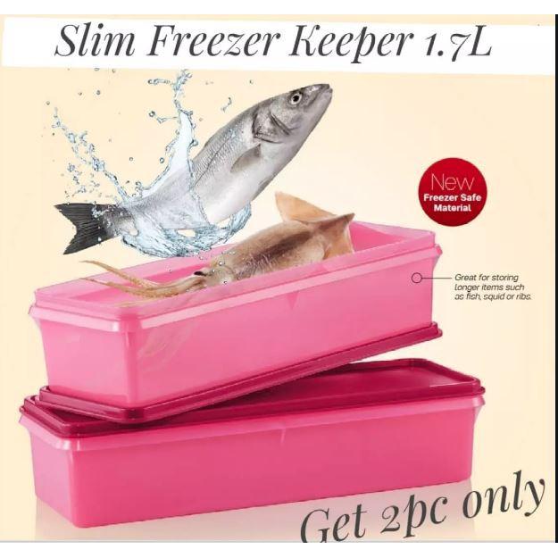 *READY STOK* TUPPERWARE FISH KEEPER 1.7L / SLIM FREEZER KEEPER