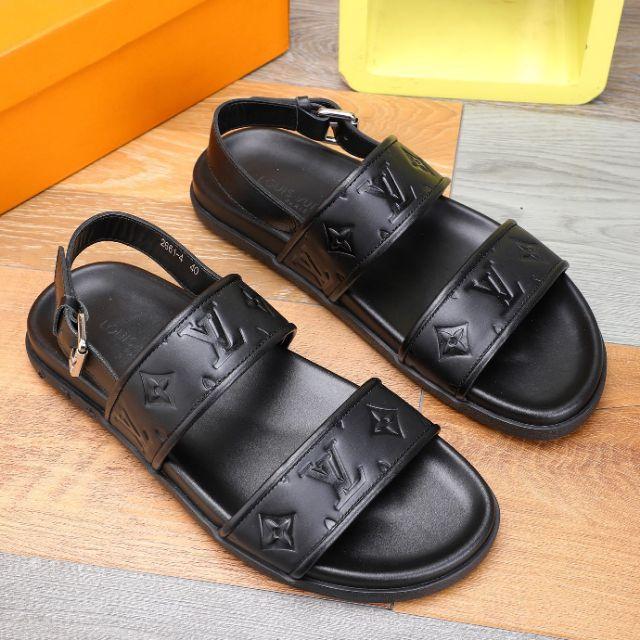 LV2020 Latest Men Sandal Fashion Calf Leather (Black) Premium - 38-46 EURO