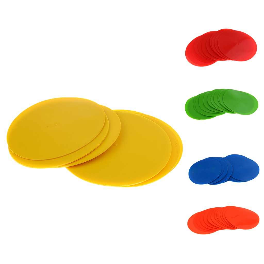 """Durable Non-slip PVC Spot Markers 9/"""" for Drills and Training Pack of 12"""
