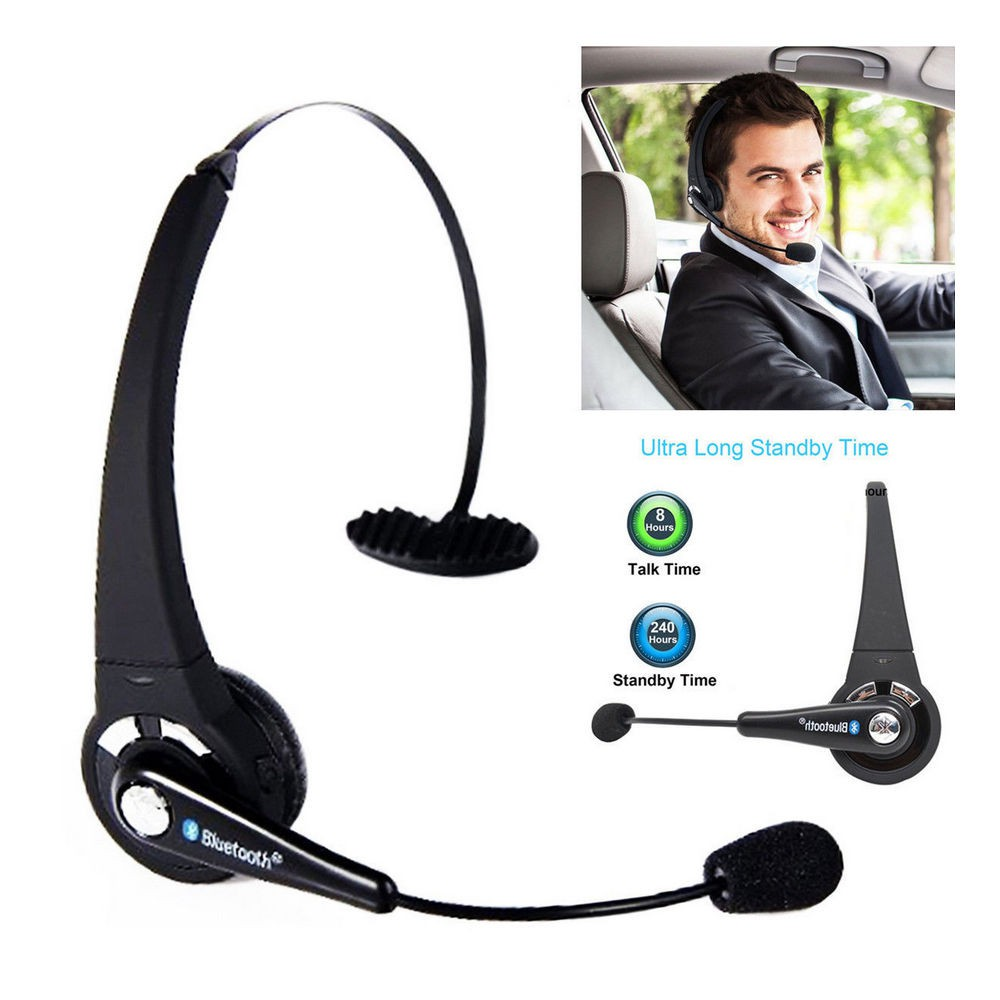Bluetooth Wireless Headset Office Headset Cell Phone Truck Driver Call Shopee Malaysia