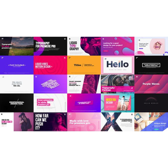 Adobe Premiere Pro Template Collection - Crazy Deal - Rm1 Each