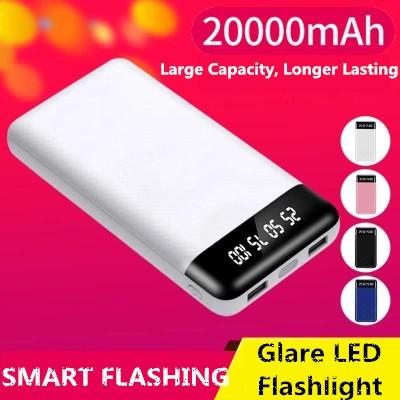20000mah Power Bank with LED Light Portable USB Charger Li-Polymer Battery