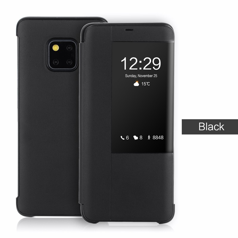best authentic 01813 83bcc Smart View Case for Huawei Mate 20 Pro 20X Lite Case Flip Leather Full Cover