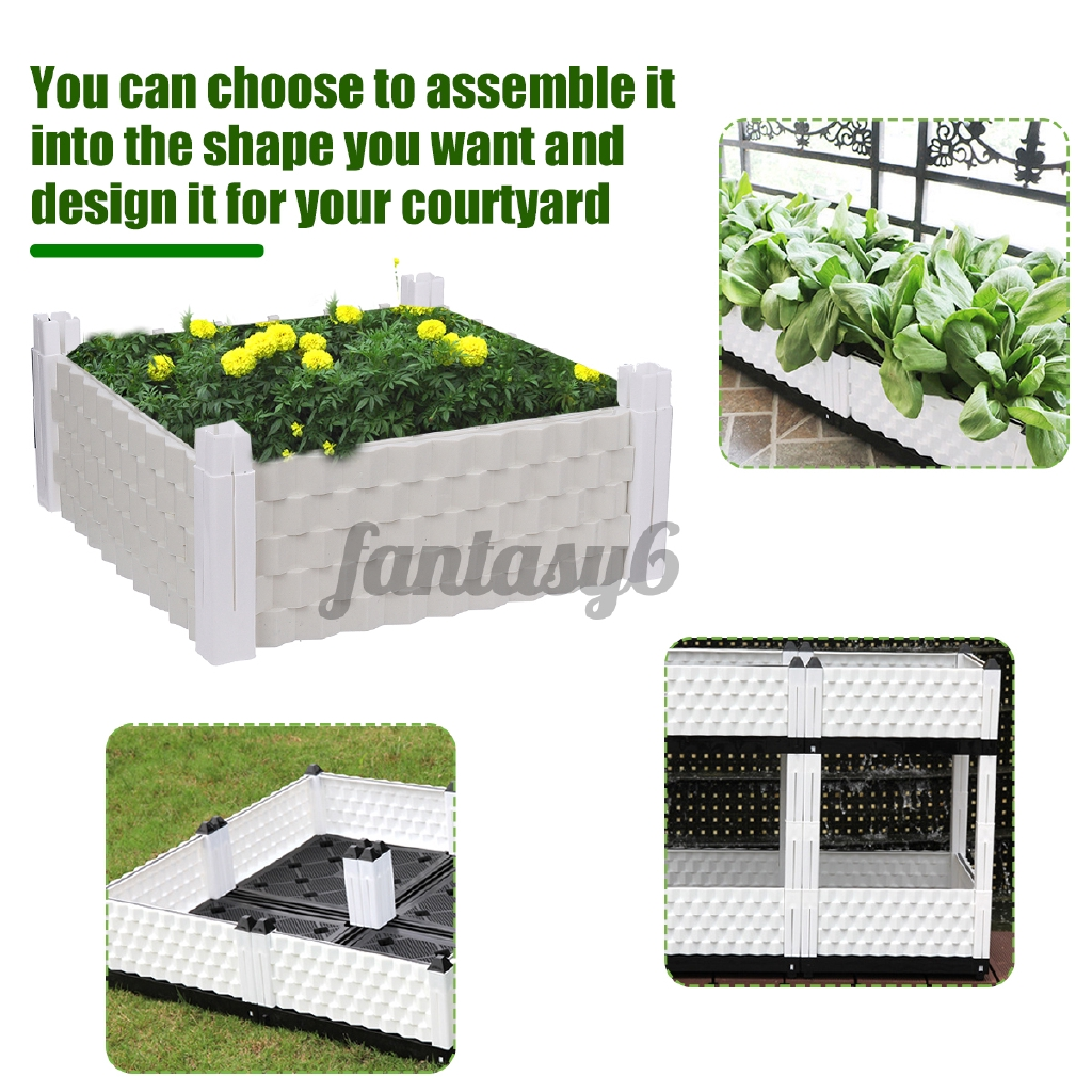 Picture of: Garden Raised Bed Plastic Vegetable Planter Garden Planting Grow 39x39x24cm Shopee Malaysia