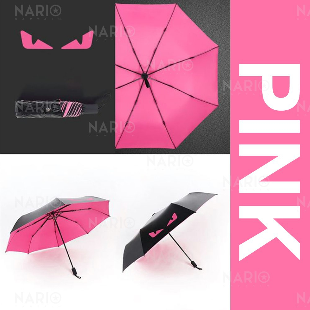Windproof Compact Lightweight Sun Block Colorful Pattern Texture Easy Carry Umbrella Parasol