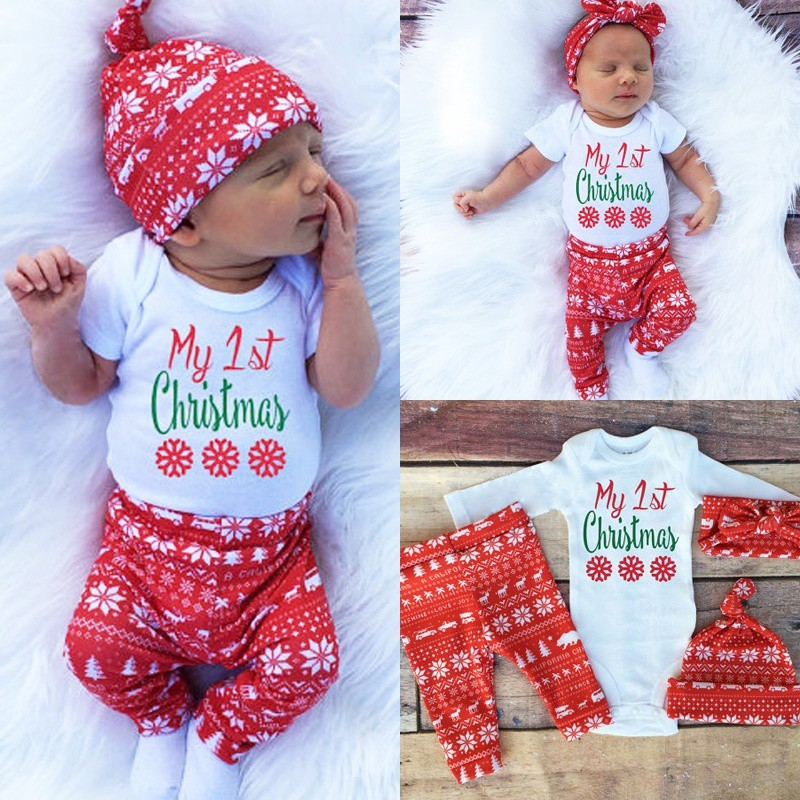 2adcc20f6 3PCS Toddler Long Sleeve Romper Pants Hat Outfit Cute Fashion Baby Boy Girls