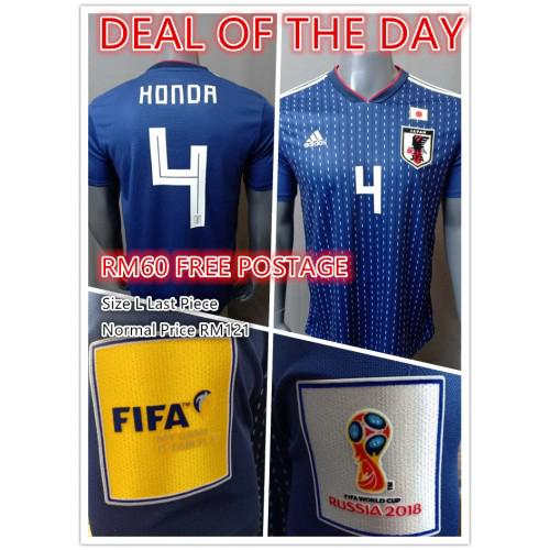 9d98d200 Japan Men Home World Cup 2018 CLIMALITE Fans Jersey | Shopee Malaysia
