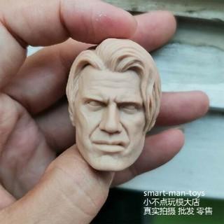 "Custom 1//6 Unpainted Male Head Sculpture Carving Model PVC for 12/"" Figure Action"