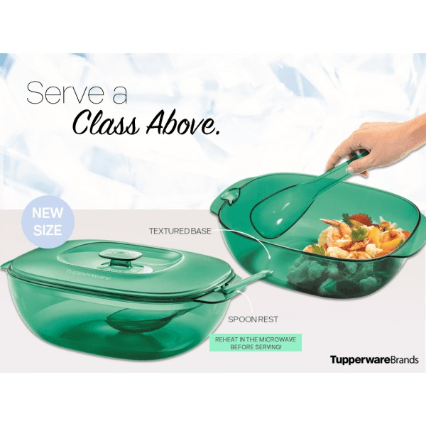 **New Size*Tupperware Crystalline Rice Server 2.5L With Spoon Microwaveable