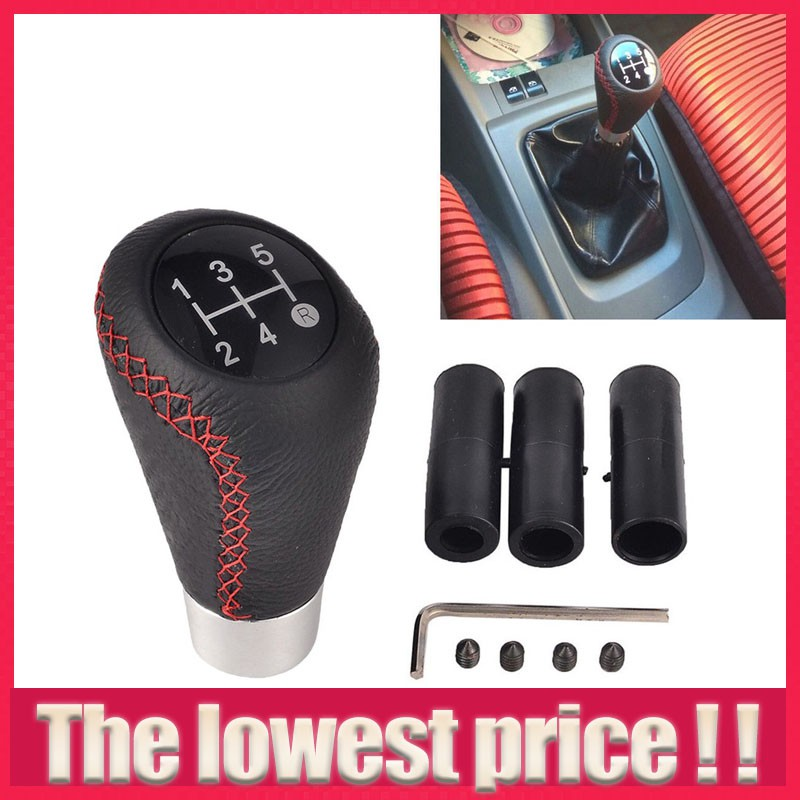 Manual Shift Shifter Boot Pu Leather Stiched For Honda Civic Si 2006-2011 Black Gear Shift Collars Promotion