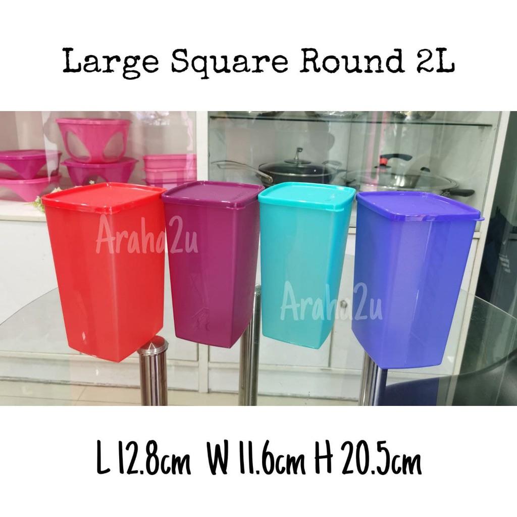 Tupperware Large Square Round 2L Fridge Container